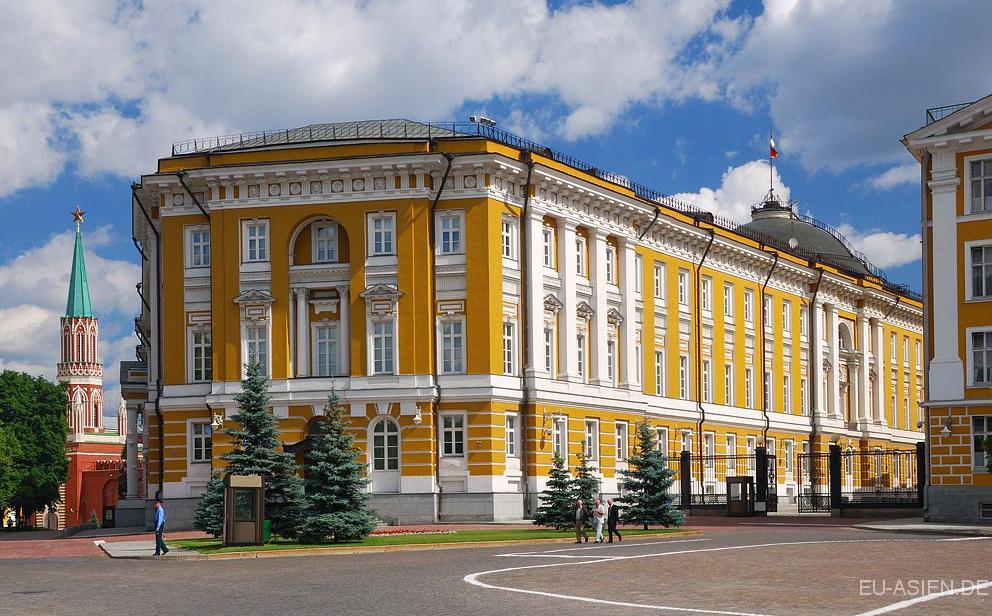 Der moskauer kreml und die sehenswürdigkeiten im kreml